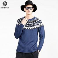 Life · After Life LALA604SW-87NAX 男士针织衫 (蓝色、M)