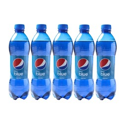 PEPSI 百事 巴厘岛限定款 蓝色可乐 梅子味 450ml*5瓶
