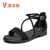 YEARCON 意尔康 8362ZL29990W 女士平底绑带凉鞋