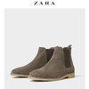 ZARA 12055302004 男士切尔西生胶外底皮靴