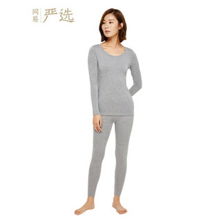 网易严选 咖啡碳+5℃保暖内衣套装(上衣+裤子) (浅麻灰保暖套装、XXL)