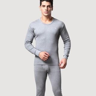 SEPTWOLVES 七匹狼 纯棉薄款 男士保暖内衣套装