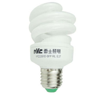 雷士照明(NVC)节能灯 E27大口螺旋12W2700K 白炽灯色(黄光)