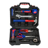 万克宝(WORKPRO)W009061N 家用维修工具装修工具组套吹塑盒工具箱21件套