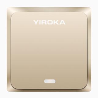 盈润佳 YIROKA 门铃电子猫眼 不用电池自发电无线门铃家用呼叫器 香槟金色DQ-688
