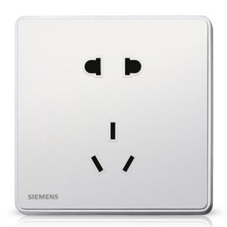 SIEMENS 西门子 开关插座 10A五孔电源插座面板 睿致系列象牙白钛银86型暗装面板