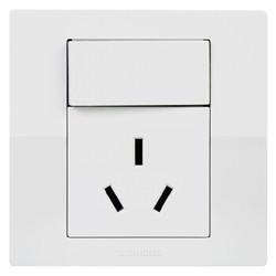 西门子(SIEMENS)开关插座 悦动系列 16A三孔带开关面板 空调热水器插座(雅白色) *13件