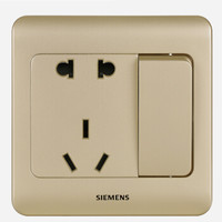 西门子(SIEMENS) 远景系列 10A五孔带开关面板 (金棕色)5UB01081CC133 *12件