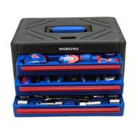 万克宝(WORKPRO)W009022N 3抽屉工具箱工具组套家用汽修维修工具实用125件套