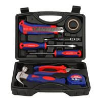 万克宝(WORKPRO)W009046N 9件套家用工具箱套装 电工木工维修五金手动工具组套