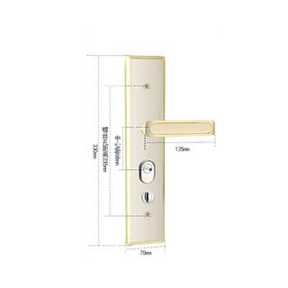 奥本门把手防盗门锁防撬面板执手锁1518双快多功能型玫红色(不含锁芯和锁体)
