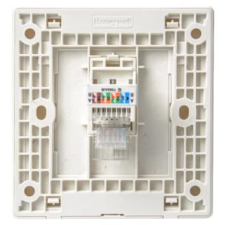 霍尼韦尔(honeywell)开关插座面板 一位电脑插座 86型单联网线宽带插座 境尚系列 白色