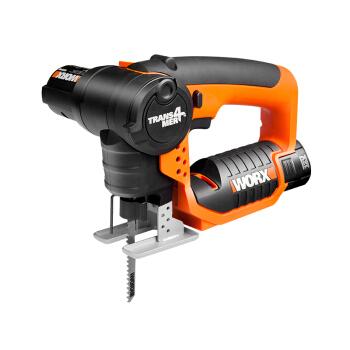 WORX 威克士 12伏多功能锂电电锯WX540.8 家用小电锯 曲线锯 往复锯二合一 家用电动工具