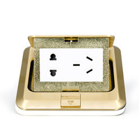 正泰(CHNT)弹起式地板插座 带功能键带接线端子不带暗盒 NED系列香槟金