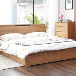 双11预售 : 维莎 w0616 日式实木储物床 升级全高箱版 1.5米