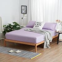 大朴(DAPU)床笠家纺 A类床品 精梳纯棉斜纹床笠 双人床罩 单件 紫色碎条纹 1.5米床 150*200cm