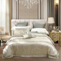 水星家纺 床上四件套 真丝棉大提花60S长绒棉贡缎 欧式奢华风 约克公爵 加大双人1.8米床