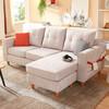 全友家居 现代北欧沙发 客厅家具小户型可拆洗布艺沙发 102289B灰色