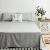 大朴(DAPU)床单 A类床品 60支精梳纯棉缎纹纯色床单 双人被单 银石灰 1.5米床 240*240cm