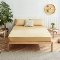 大朴(DAPU)床笠 A类床品 60支精梳纯棉缎纹纯色床笠 双人床罩 松果褐 1.5米床 150*200cm