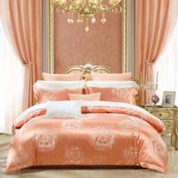 水星家纺(MERCURY) 简约提花四件套北欧风被套床单双人床上用品 睡美人 1.8米床