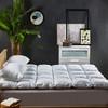 斯诺曼(snowman)床垫家纺 白鹅绒床垫羽绒鹅毛 加厚 榻榻米透气床褥子 酒店床护垫 填充量4.2kg 适用1.8m床