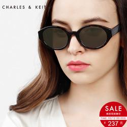 CHARLES&KEITH女士墨镜CK3-21280302复古风摩登椭圆太阳镜