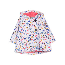 JEAN BOURGET 法国进口 女童油漆点印花外套 18个月-4岁