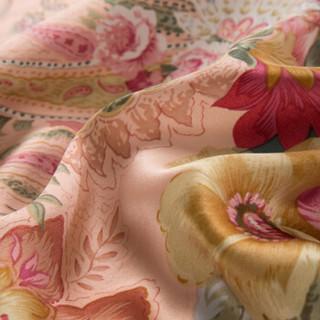 太湖雪 床品家纺 宽幅真丝四件套 100%桑蚕丝绸面料 真丝婚庆被套床单 粉丽佳人 1.8米床 220*240cm
