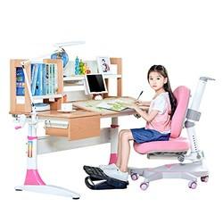 心家宜 M151_M215R/L 实木手摇机械升降学习桌椅套装