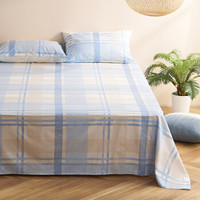 大朴(DAPU)床单家纺 精梳纯棉斜纹印花床单 双人被单 单件 蓝色畅想 1.5米床 230*240cm