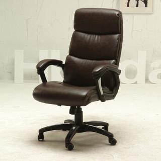 Hbada 黑白调 021ZDPU 家用皮艺电脑椅子  棕色