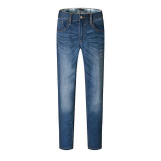 Semir 森马 11216241068 男士复古小脚牛仔裤