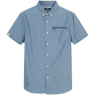 Semir 森马 11216041006 男士牛仔短袖衬衫