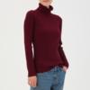 MUJI 无印良品 W7AA872 女士高领羊毛衫 174元