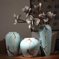 Doruik 德瑞克 景德镇创意现代新中式陶瓷花瓶 三件套