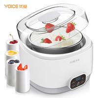 优益(Yoice)酸奶机 米酒机纳豆机家用多功能微电脑全自动304不锈钢内胆 陶瓷分杯 1L Y-SA12