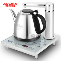 澳柯玛(AUCMA)自动上水电热水壶 304不锈钢烧水壶 ADK-1350H23 0.8L电水壶 白色 *2件