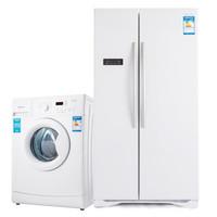 Hisense  海信 BCD-558WT/Q+XQG70-S1066W 对开门风冷+7kg滚筒冰洗套装