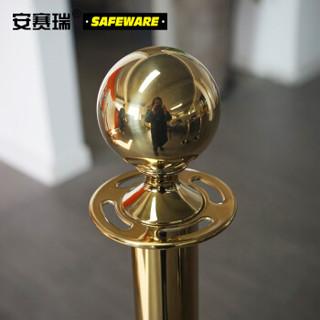 安赛瑞 14507-2 金色礼宾围栏(2个装)一米线护栏 不锈钢警戒线