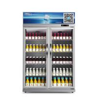 星星(XINGX) 600升 双门冷藏展示柜 立式商用冰柜 保鲜柜 陈列柜 啤酒柜 饮料柜 LSC-600K