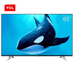 TCL D65A620U 65英寸观影王 真4K超高清安卓智能LED液晶电视机 黑