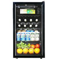 韩电(KEG)96L小单门欧式酒柜 茶叶柜 展示柜 饮料柜 冷藏柜 冰箱冰柜冰吧 独立微冻室 办公室 黑色 JC-96