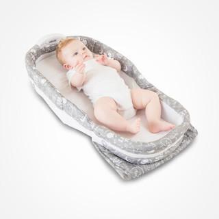 宜贝儿 ebenz欧式便携式婴儿床床中床新生儿仿生床多功能bb床宝宝哄睡觉床防压伤防掉床睡箱