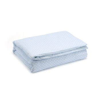 PurCotton 全棉时代 2300011941 幼儿夹棉纱布被 120*150cm 蓝底桃心