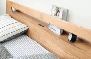维莎 w9060 橡木镂空置物多功能双人床