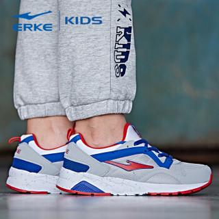 ERKE 鸿星尔克 63116120026 大童休闲鞋 (37、正白/亮红)