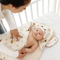 贝谷贝谷 小颜值婴儿抱被纯棉新生儿包被大号秋冬款 150克填充棉(适合室温10-20度)