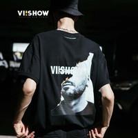 ViiSHOW TD1289182 男士黑色圆领T恤