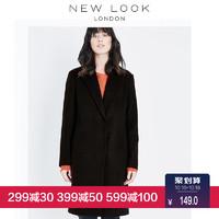 NEW LOOK 524443801 女士中长款毛呢大衣 (170)